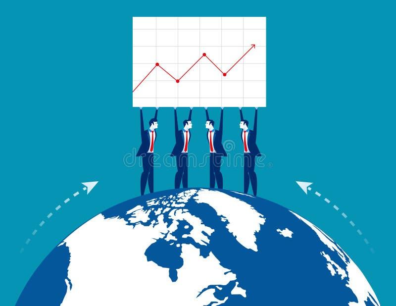 Business teamwork yielding success. Concept business vector illustration. Flat business design vector illustration