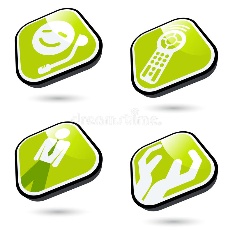 Business and Technology Icons vector illustration