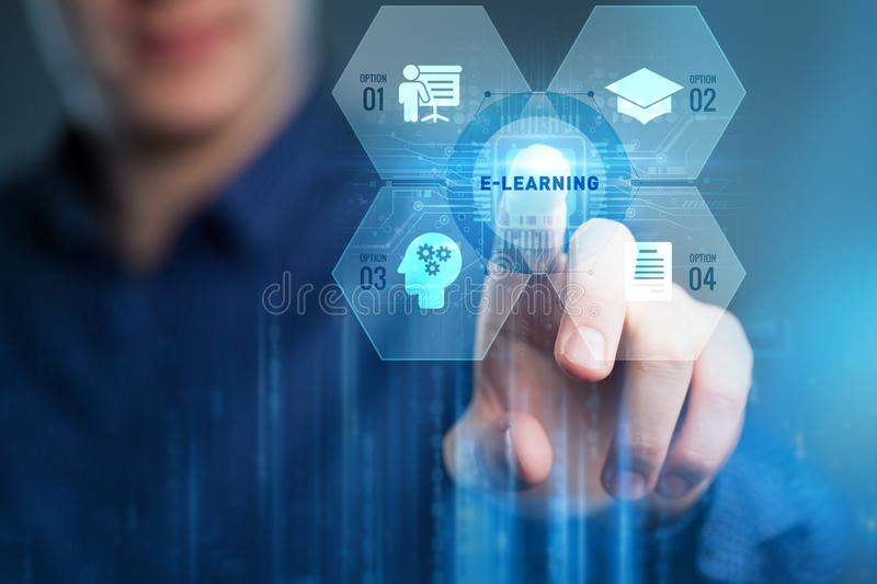 Business, Technology, Internet and network concept. E-learning Education Internet Technology Webinar Online Courses concept.  stock image