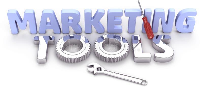 Business technology marketing tools stock illustration