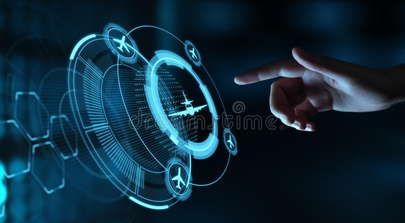 Business Technology Travel Transportation concept with planes.  royalty free stock photo