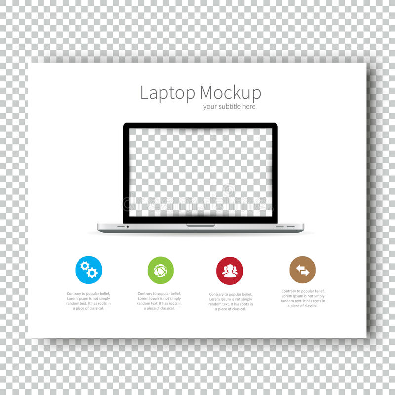 Free Business Template Brochure Mockup Laptop Flyer Design Presentation. Very Easy To Use. Stock Photography - 69480662