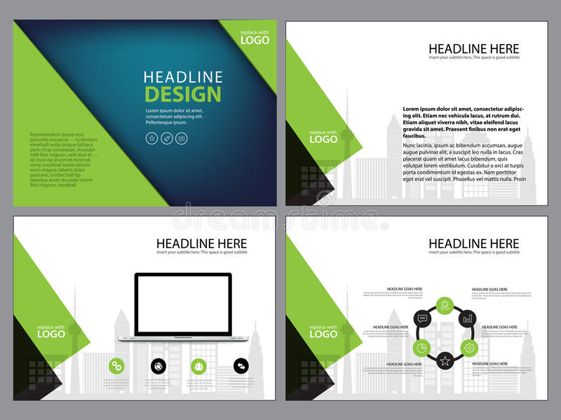 Business Template design set Presentation and brochure Annual report, flyer page with infographic element. Business Template design set Presentation and vector illustration
