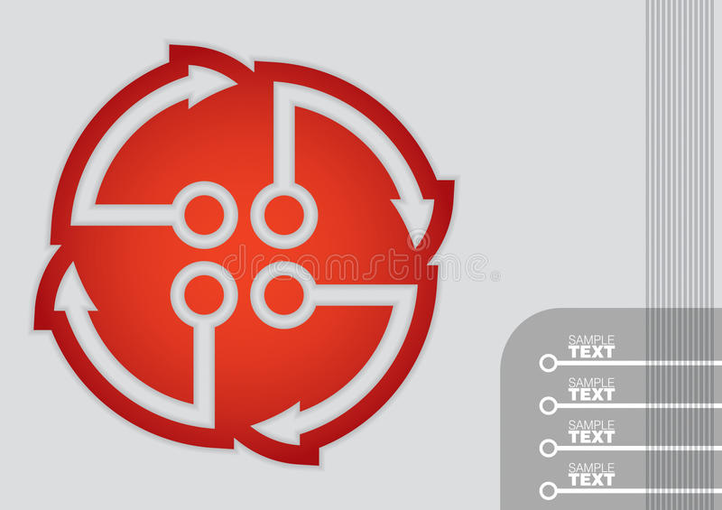 Business template, graph and flow diagram illustration stock illustration