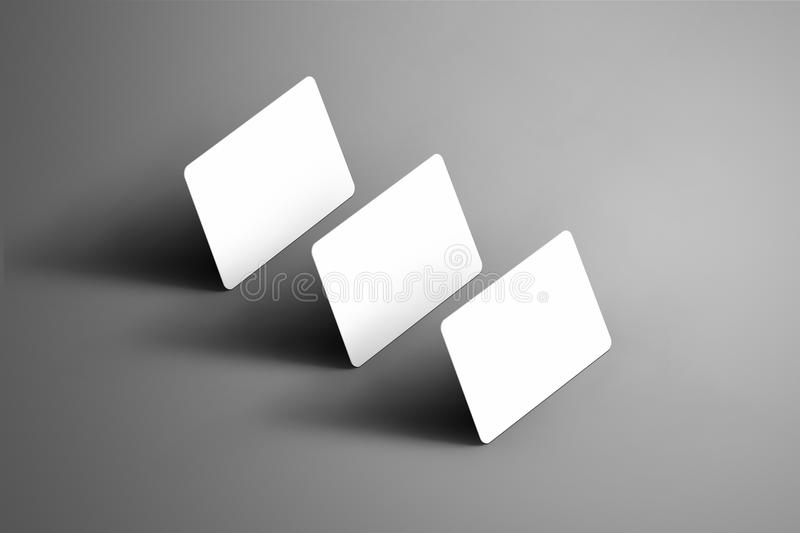 Business template of a three bank gift cards on a gr stock illustration