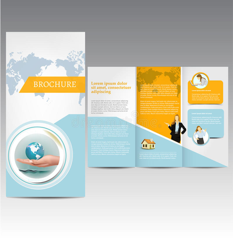 Business template. Vector Brochure Layout Design Template royalty free illustration