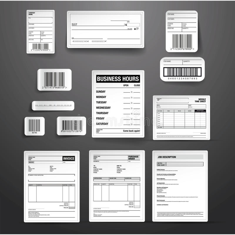 Business template vector set royalty free illustration