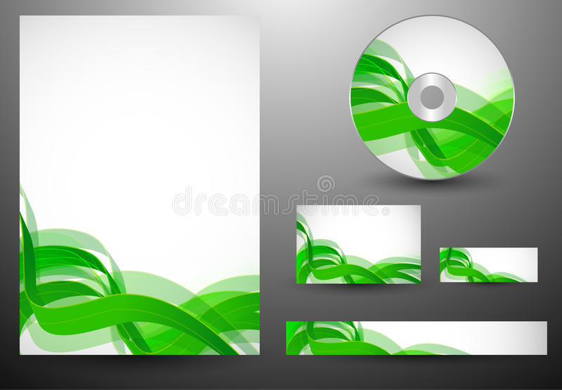 Download Business Template Waves Royalty Free Stock Photos - Image: 18035188