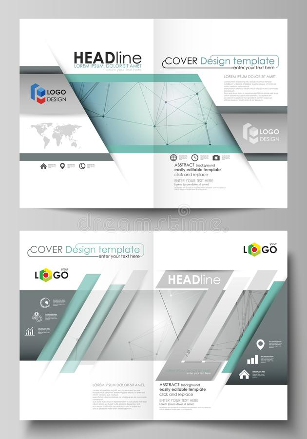 Business templates for bi fold brochure, magazine, flyer, booklet or report. Cover design template, vector layout in A4. Business templates for bi fold brochure royalty free illustration