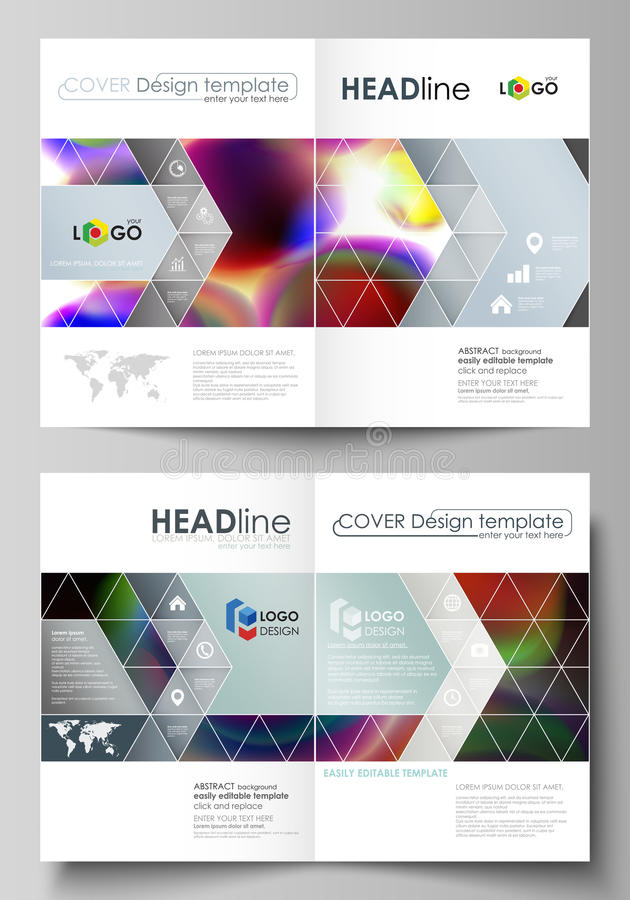 Business templates for bi fold brochure, magazine, flyer, booklet or annual report. Cover template, flat vector layout. Business templates for bi fold brochure stock illustration