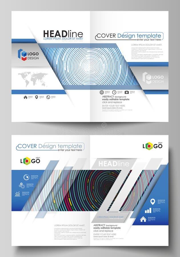 Business templates for bi fold brochure, magazine, flyer, booklet, report. Business templates for bi fold brochure, magazine, flyer, booklet or annual report stock illustration