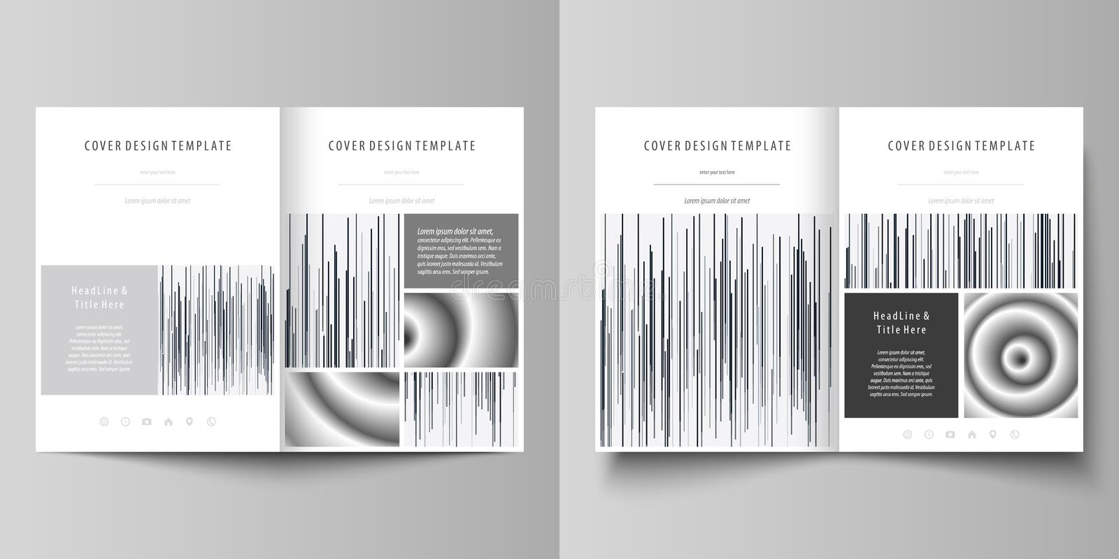 Business templates for bi fold brochure, magazine, flyer. Cover design template, abstract vector layout in A4 size. Business templates for bi fold brochure vector illustration