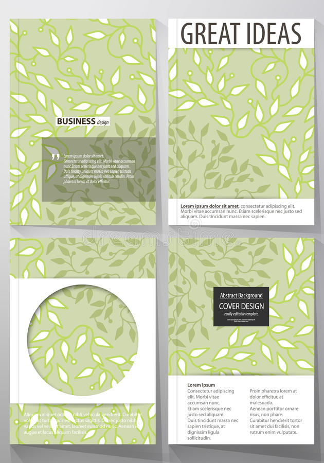 Business templates, brochure, flyer, annual report. Cover design template. Business templates for brochure, magazine, flyer, booklet or annual report. Cover stock illustration