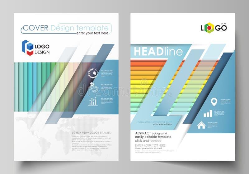 Business templates for brochure, magazine, flyer, annual report. Cover template. Business templates for brochure, magazine, flyer, booklet or annual report stock illustration