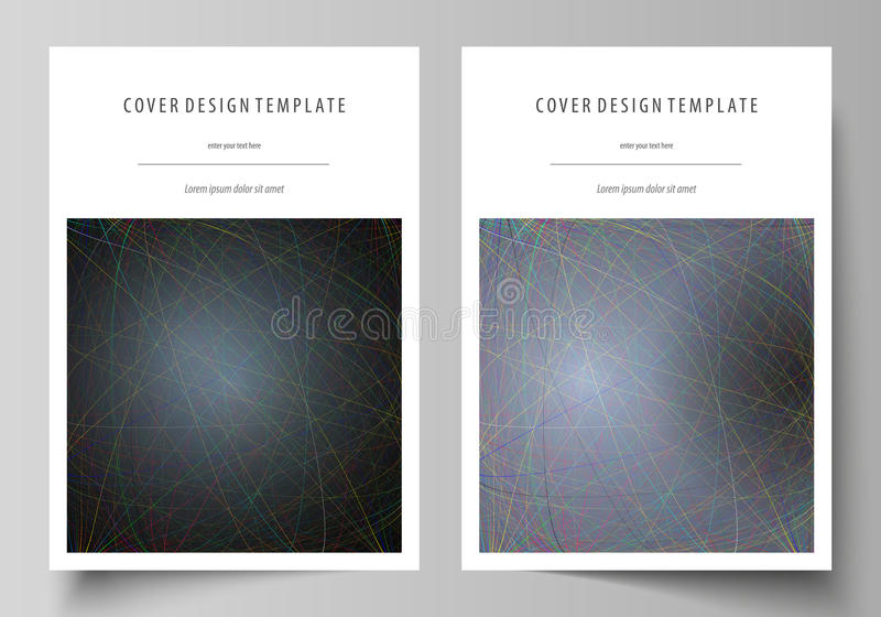 Business templates for brochure, magazine, flyer, booklet. Cover design template. Business templates for brochure, magazine, flyer, booklet or annual report royalty free illustration