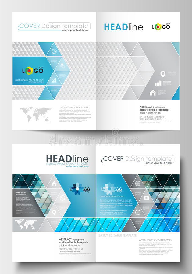 Business templates for brochure, magazine, flyer, booklet or report. Business templates for brochure, magazine, flyer, booklet or annual report. Cover design royalty free illustration