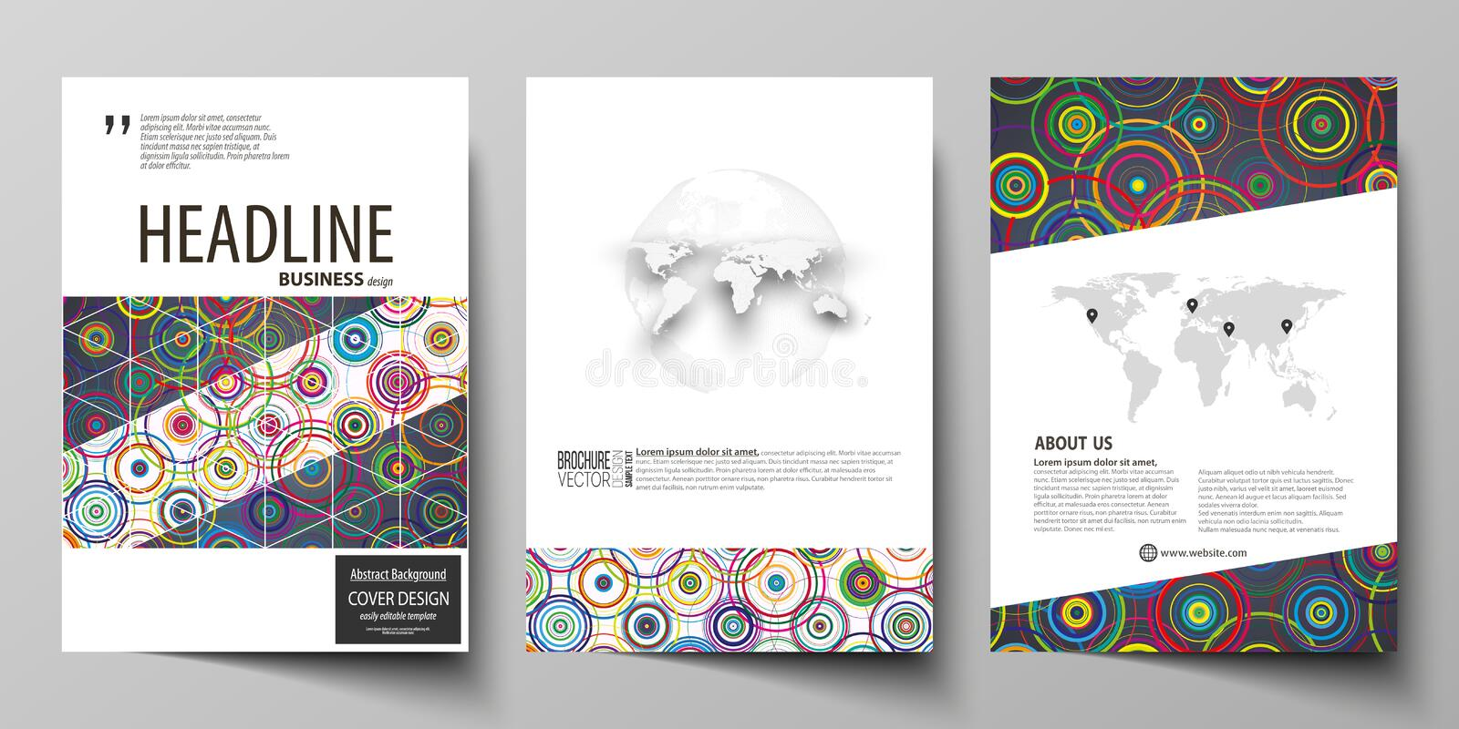 Business templates for brochure, magazine, flyer, booklet, report. Cover design template, abstract vector layout in A4. Business templates for brochure, magazine royalty free illustration
