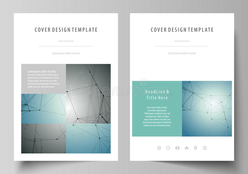 Business templates for brochure, magazine, flyer, booklet, report. Cover design template, vector layout in A4 size vector illustration
