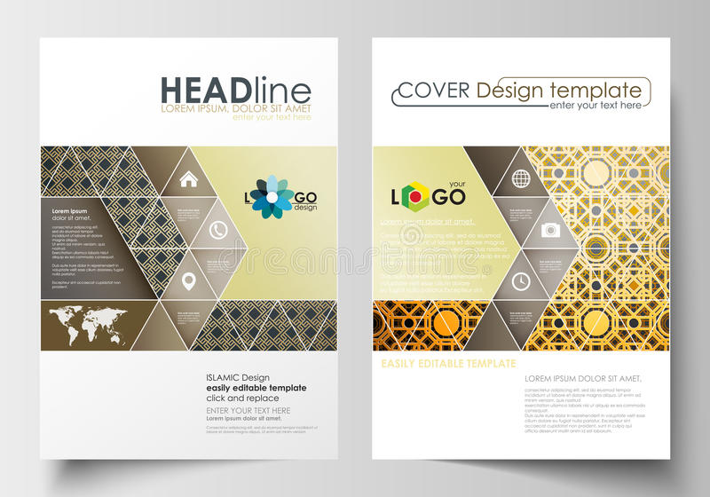 Business Templates For Brochure Magazine Flyer Cover Design