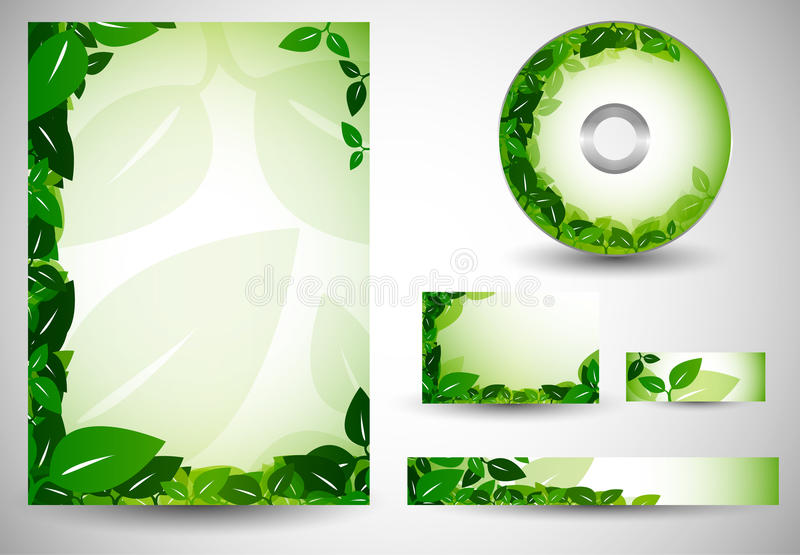 Business Templates Ecology royalty free illustration