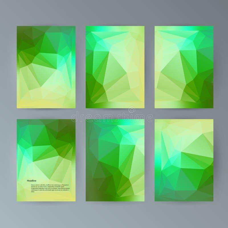 Set flyer background modern triangle design29 vector illustration