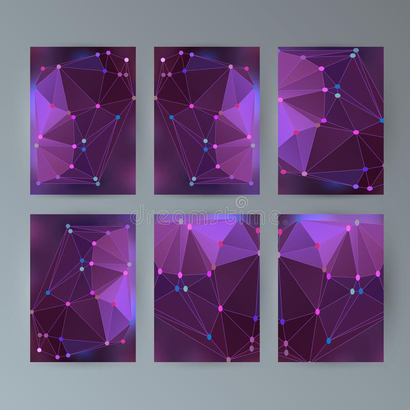 Set flyer background modern triangle design20 stock illustration