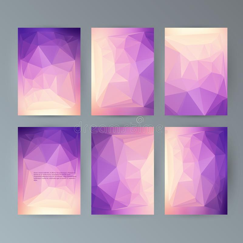 Set flyer background modern triangle design23 royalty free illustration