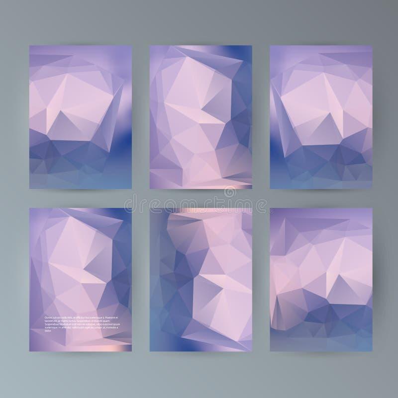 Set flyer background modern triangle design26 vector illustration
