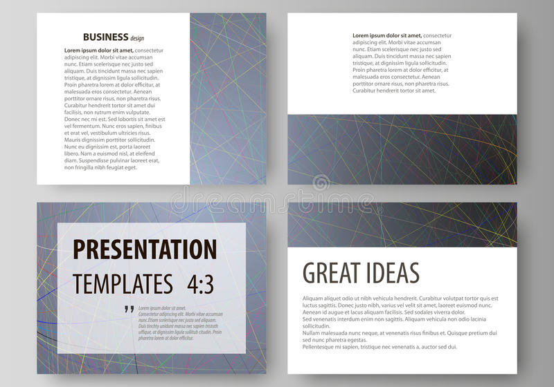Business templates for presentation slides. Easy editable layouts in flat design. Set of business templates for presentation slides. Easy editable abstract vector illustration