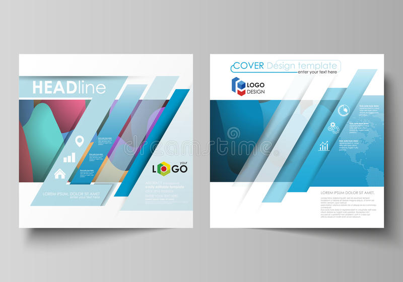 Business templates for square brochure, magazine, flyer, booklet or annual report. Leaflet cover, flat style vector royalty free illustration