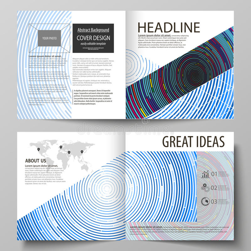 Business templates for square design bi fold brochure, magazine, flyer, booklet. Or annual report. Leaflet cover, abstract flat layout, easy editable vector vector illustration
