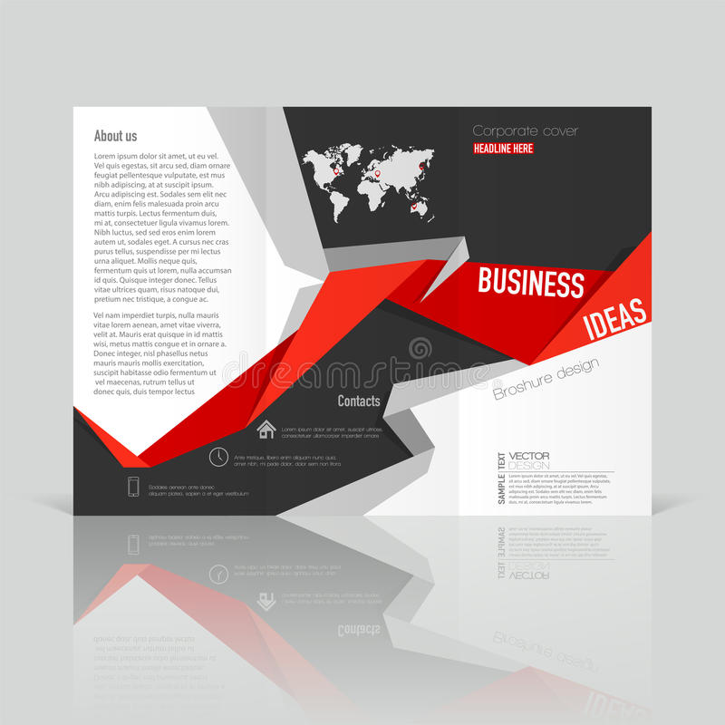 Business templates for tri-fold brochure, annual report. stock illustration