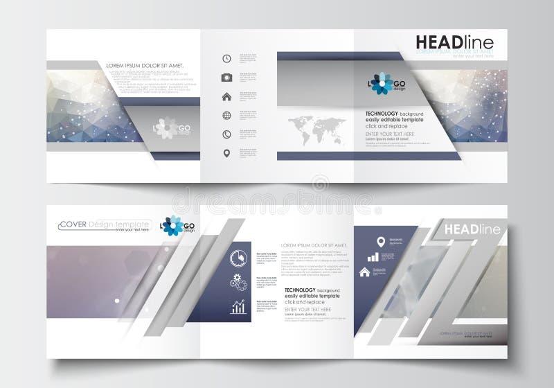 Business Templates For Tri Fold Brochures Square Design Leaflet