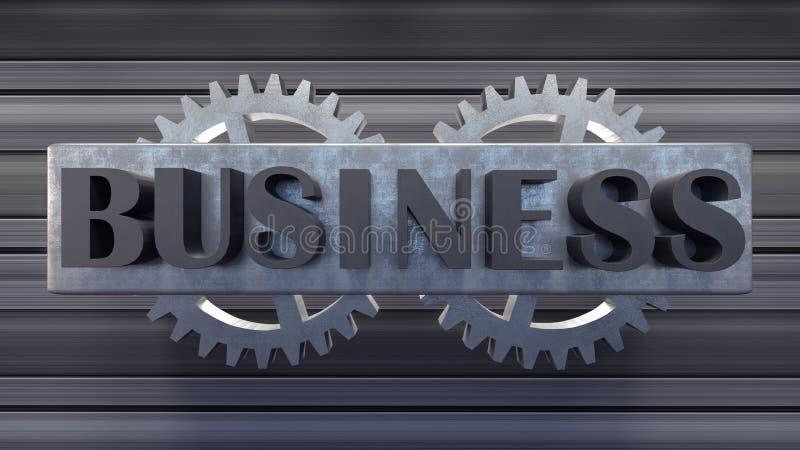Business text 3d illustration 3d render background stock illustration