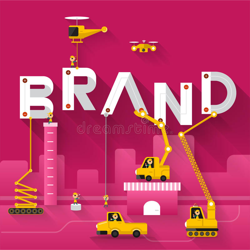 Business Text royalty free illustration