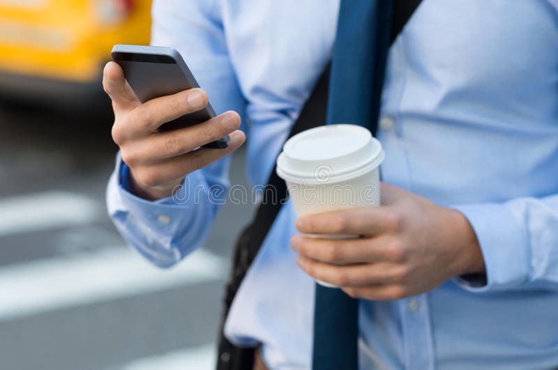 Business text message stock photography