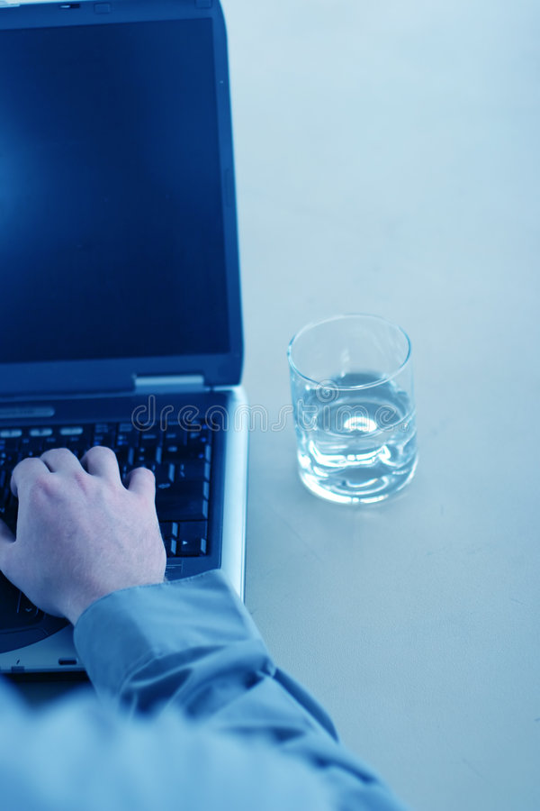 Business thirst royalty free stock photography