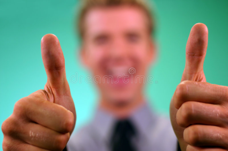 Business Thumbs UP royalty free stock photography