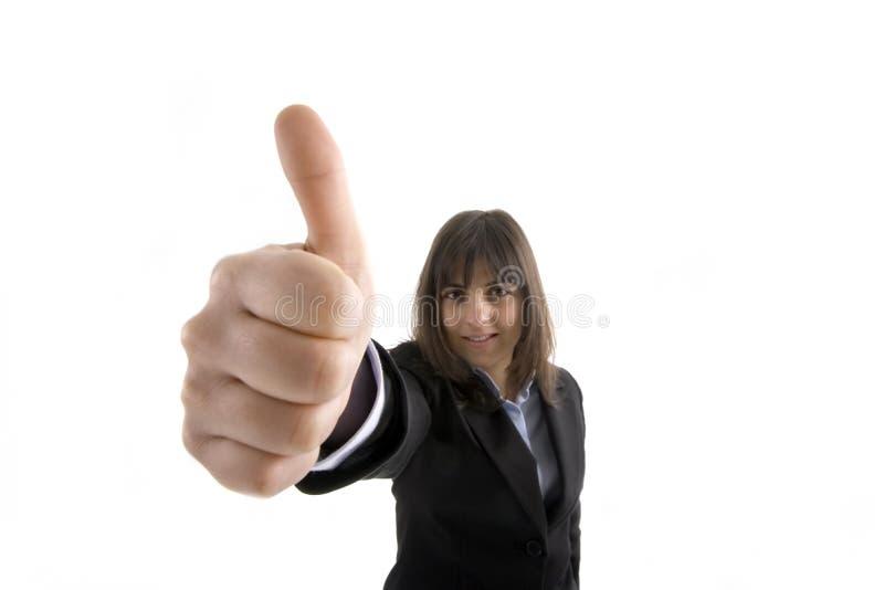 business thumbs up woman стоковые изображения rf