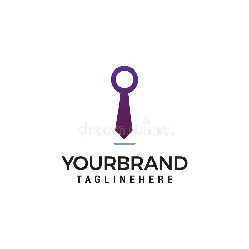 Business Tie Logo template stock illustration