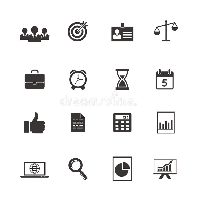 Download Business and time icons stock vector. Image of date, deadline - 39323776