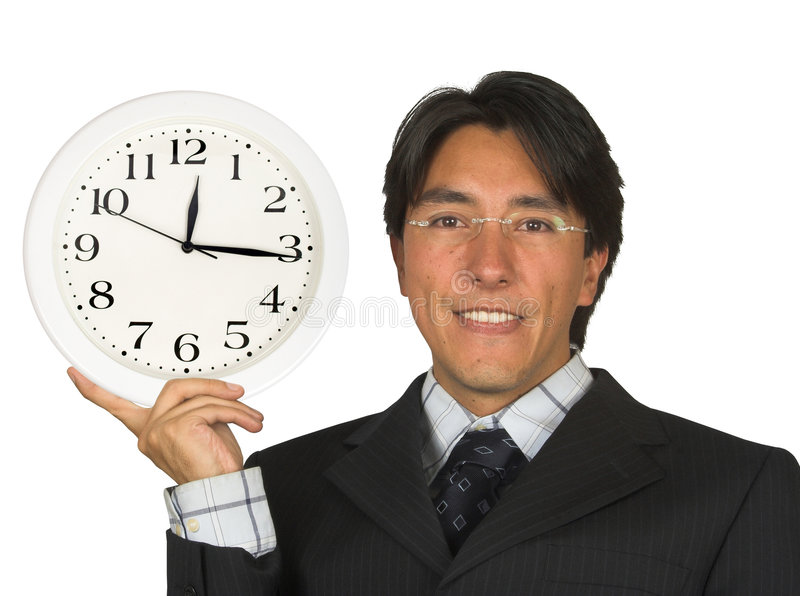 Download Business Time Management - Man With Glasses Stock Image - Image of clock, over: 222399