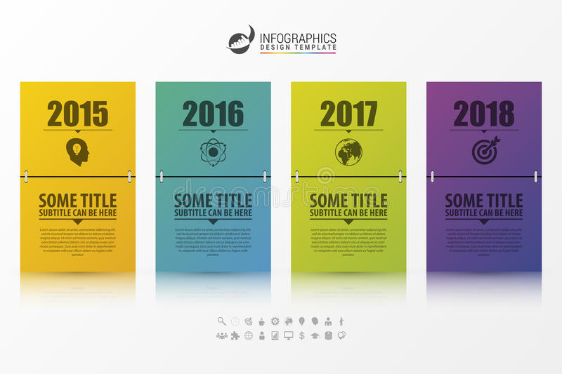 Business Timeline Infographic Template Calendar Concept Stock
