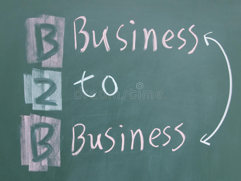 Download Business to business sign stock photo. Image of diagram - 25148160