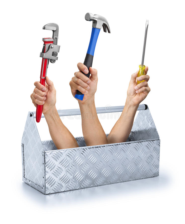 Business Tools Toolbox Toolkit Support Hand royalty free stock image