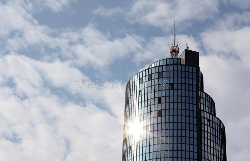 Business tower in Croatia stock photo