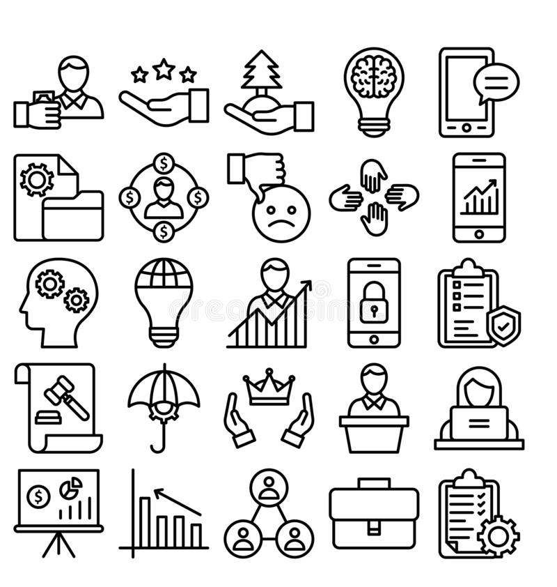 Business Trade Vector Icon editable royalty free illustration