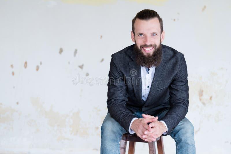 Business trainer consultant confident man jacket stock photos