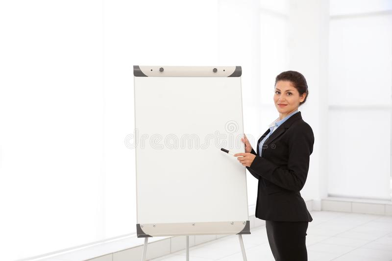 Business trainer giving presentation royalty free stock photos