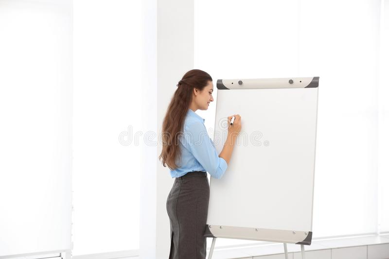 Business trainer giving presentation royalty free stock image
